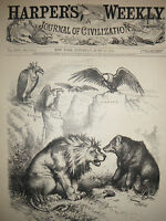 1878 Harper's Weekly Nast June 22 - Russia and Britain will ignore other nations