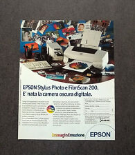 [GCG] K190- Advertising Pubblicità -1996- EPSON STYLUS PHOTO E FILMSCAN 200