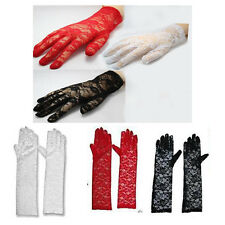 New Ladies Lace Evening Gloves 1920's Flapper Gangster Fancy Dress Bridal Prom