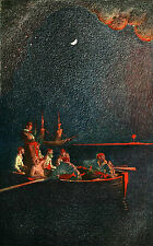 Burning the Ship, Howard Pyle 9x6 inch 1905 Repro Pirate Art Print