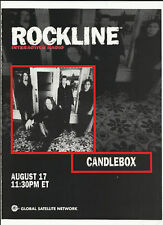 CANDLEBOX RARE 1998 Trade AD POSTER MINT 8 1/2 x 11