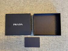Prada Wallet Box w/ Prada Logo & Prada Credit Card Insert 5 3/8 x 4 5/8 x 1 5/8