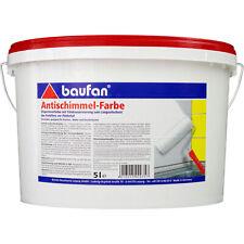 Baufan Antischimmel-Farbe 5 l Dispersionsfarbe lösungsmittelfrei (4,97?/1l)