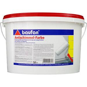 Baufan Antischimmel-Farbe 5 l Dispersionsfarbe lösungsmittelfrei (5,78€/1l)