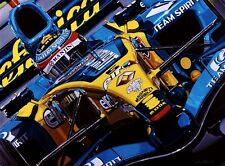 Fernando Alonso 90 x 70 cms limited edition F1 art print by Colin Carter