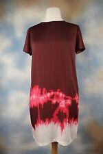 NWT $395 Vince Tie-Dye  Boho Short Sleeve Satin Dress v268850480 Sz 6 S Hippy