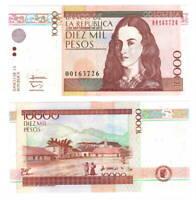 COLOMBIA UNC 10000 Pesos Banknote (2013) P-453q Paper Money