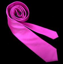klassische Krawatte rosa pink einfarbig uni ca. 8cm breit 823