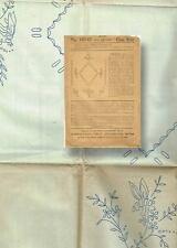 1910s VTG Standard Fashion Company Lingerie Neckline Trim Embroidery Transfer FF