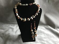 NATURAL SHELL NECKLACE  & EARRING SET