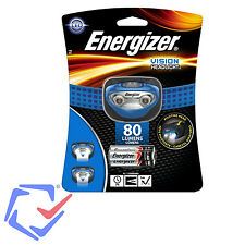 Headlamp Energizer Headlight Vision HD 3AAA blue 80 Water Resistant  LED