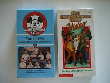 Walt Disney Mickey Mouse Club Volume 1 VHS & Baby Sitters Club Christmas Video