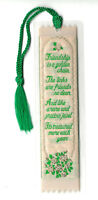 Special Friend Birthday Gift Woven Bookmark Friendship Love Roses Flowers Xmas