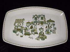 Vintage Scandinavian Figgjo Flint Lotte Turi Design Market Large Platter Green