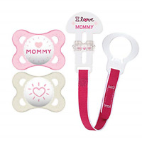 MAM Pacifiers and Baby Pacifier Clip Baby Pacifier 0-6 Months and Baby Pacifi...
