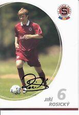 Jiri Rosicky  AC Sparta Prag  Fußball Autogrammkarte signiert 371304