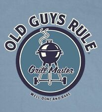 "OLD GUYS RULE "" WELL DONE AND RARE "" GRILL MASTER BBQ SHORT SLEEVE T-SHIRT"