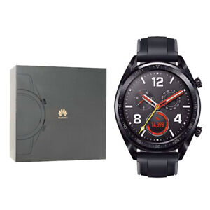New Huawei Watch GT 128MB FTN-B19 Black Stainless Steel Bluetooth Smartwatch