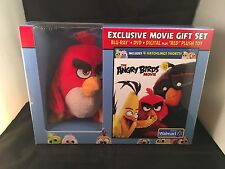 The Angry Birds Movie Exclusive Movie Gift Set with Plush Toy Blu Ray + DVD NEW
