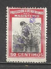 7500A-SELLO FISCAL PROTECCION HUERFANOS MAGISTERIO 1939 SELLO REPUBLICANO