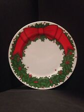 "Fitz and Floyd Holly Wreath Plate 1976 7.5"""