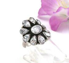 Markenlose Echte Edelstein-Ringe aus Sterlingsilber mit Zirkon