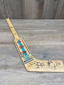 Rare Vintage Detroit Vipers IHL Wood Goalie Stick Souvenir Minor League