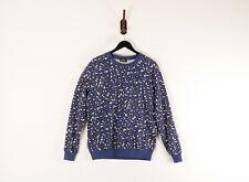 A.P.C. APC Paris Leopard Cheetah Print Sweatshirt Blue Black White Men's Large