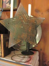 """Antiqued Christmas 14"""" Punched Tin Star Tree Topper, will hold Lights"""
