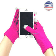 Winter Touch Screen Gloves Smartphone Tablet Pad Women PINK US Stock