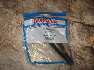 RC Duratrax Racing Grade Metal Black Tuned Pipe .21 (1) DTXG1000
