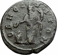 ELAGABALUS Odessos Thrace Authentic Ancient Roman Coin GREAT GOD DERZELAS i79977