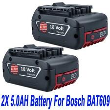 2x 18V 5.0AH Battery For Bosch BAT609 BAT618 17618 25618-01 with Fuel Guage