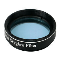 """New Moon&Skyglow Light Pollution Filter 1.25"""" for Telescope Eyepiece Blue Lens"""