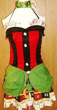 Leg Avenue Women's Size L Large Lady Luck SEXY Casino Costume Halloween