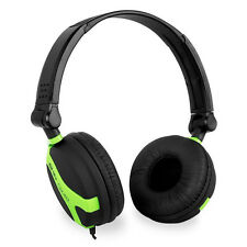 QTX QX40G Green and Black Wired Foldable Stereo Headphones