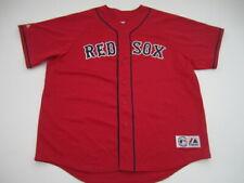 Mens XXL Trot Nixon Boston Red Sox Majestic red sewn jersey