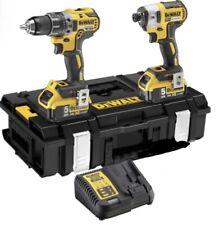 Dewalt Brushless Drill Set 18V + 2 x 5AH Battery (6 Pieces Set)