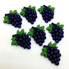 6pcs plue Grape Fruit Tropical Decor Resin Scrapbooking Flatback Cabochons Craft