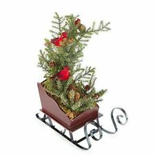 Factory Direct Craft Artificial Pine Tree with Red Artificial Cardinals