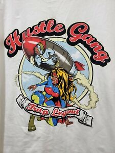 Men's Hustle Gang White Trap Legend Hip Hop Urban T shirt 5Xl XXXXXL K20
