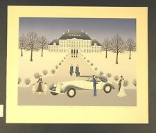 """Original Limited Edition Serigraph by Wilma Laughlin """"Winter Outing"""""""