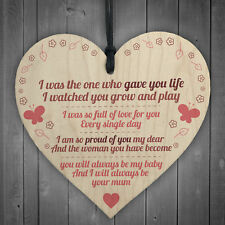 Gave You Life Mother Daughter Wooden Hanging Heart Plaque Daughters Love Gift
