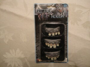 Forum Novelties - Set of 3 - Zombie Teeth - Halloween Walking Dead