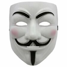 Mask ANONIMUS maschera V x Vendetta-Guy Fawk-in plastica Funny Fashion one size