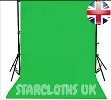 Green screen Chroma Key 3m X 2m (10ft X 6ft 6) Zoom TikTok Background OBS