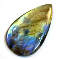 Cts. 41.95 Natural Blue Fire Labradorite Cabochon Pear Cab Loose Gemstone