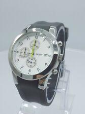 DKNY NY5037 men's chrono watch white dial rubber strap NY-5037 analog 5 ATM