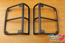 2007-2018 Jeep Wrangler Set Of Satin Black Rear Tail Light Guards Mopar OEM