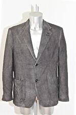 U.NI.TY chic giacca di lana seta lavorato grigio per uomo Taglia 50 (L)